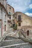 Castel del Monte L `-Aquila landskap, Abruzzo Italien Arkivfoto