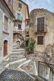 Castel del Monte L `-Aquila landskap, Abruzzo Italien Arkivfoton