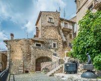 Castel del Monte L `-Aquila landskap, Abruzzo Italien Arkivbilder