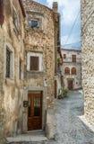Castel del Monte L `-Aquila landskap, Abruzzo Italien Royaltyfri Bild