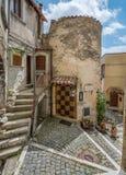 Castel del Monte L `-Aquila landskap, Abruzzo Italien Royaltyfria Foton