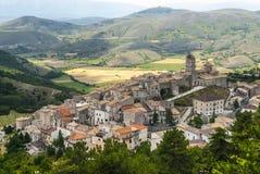 Castel Del Monte, Panoramablick Stockfotografie
