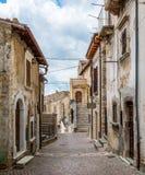 Castel del Monte, provincia della L ` L'Aquila, Abruzzo, Italia Fotografia Stock