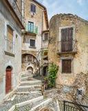 Castel del Monte, provincia della L ` L'Aquila, Abruzzo, Italia Immagine Stock Libera da Diritti