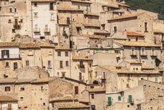 Castel del Monte som är panorama- beskådar Fotografering för Bildbyråer