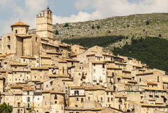Castel del Monte som är panorama- beskådar Royaltyfria Foton