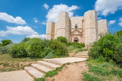 Castel del Monte, famous medieval fortress in Apulia, southern Italy. Royalty Free Stock Images