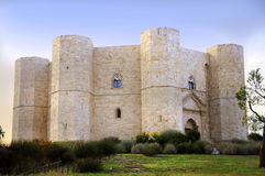 Castel del Monte. Unesco heritage in the south of Italy, Apulia region.  (Castle of the Mount) is situated on a solitary hill, in the southeast italian region royalty free stock images