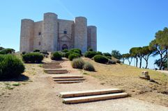 Castel del Monte. A view of Castel del Monte, a 13th-century citadel and castle situated in Andria (Apulia region, southeast Italy). It stands on a promontory Royalty Free Stock Image