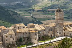 Castel del Monte, vue panoramique Photographie stock libre de droits