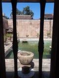 Castel dell'acqua della finestra immagini stock