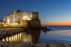 Castel dell Ovo在那不勒斯 免版税库存照片
