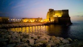 Castel dell'Ovo堡垒  免版税图库摄影