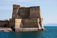 Castel dell'Ovo。 库存图片