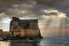 Castel dell'Ovo Stockbilder