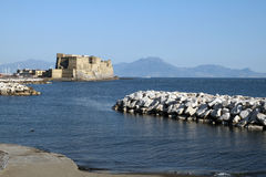 The castel dell'ovo Royalty Free Stock Photos