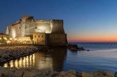 Castel dell Ovo i Naples royaltyfri foto
