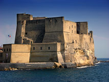 Castel dell'Ovo i Naples, Italien Royaltyfri Foto