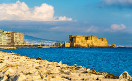 Castel dell'Ovo, a medieval fortress in the bay of Naples Stock Photography
