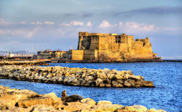 Castel dell'Ovo, a medieval fortress in the bay of Naples Stock Photo