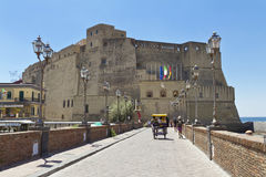 Castel dell'Ovo, a medieval fortress in the bay of Naples, Italy Stock Image