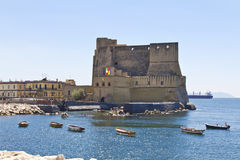 Castel dell'Ovo, a medieval fortress in the bay of Naples, Italy Stock Photography