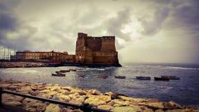 Castel dell ` ovo, Naples zdjęcia royalty free