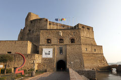Castel dell'Ovo in Naples, Italy Stock Photography