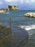 Castel dell'Ovo in Naples, Italy Royalty Free Stock Photography