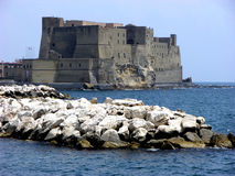Castel dell'Ovo in Naples,Italy Stock Images