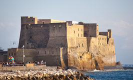 Castel dell'Ovo in Naples royalty free stock photo