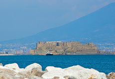 Castel dell'Ovo of Naples stock images