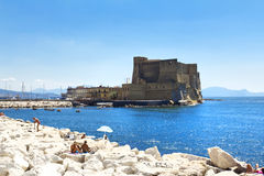 Castel-dell'Ovo, Neapel, Italien Lizenzfreie Stockfotos