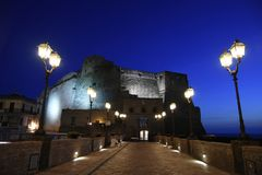 Castel dell`Ovo, one of the most beautiful monuments of Naples. royalty free stock photos