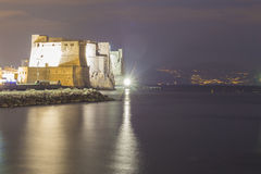 Castel dell'Ovo w Naples Obraz Royalty Free