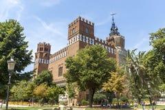 Castel dels Tres Dragons Stock Photo