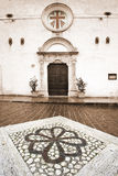 Castel di Ieri. Facade of the church of Castel di Ieri Stock Images