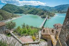Castel Di Tor, comune w prowinci Rieti w Włoskim regionie Latium Fotografia Stock