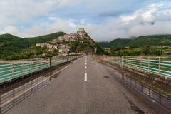Castel Di Tora, Λάτσιο, Ιταλία στοκ εικόνα με δικαίωμα ελεύθερης χρήσης