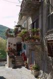 Castel di Tora city, near Rieti, characteristic building Stock Photo