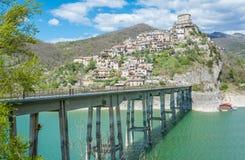 Castel di Tora, comune in the Province of Rieti in the Italian region Latium. Royalty Free Stock Photo