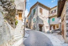 Castel di Tora, comune in the Province of Rieti in the Italian region Latium. royalty free stock image