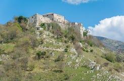 Castel di Tora, comune in the Province of Rieti in the Italian region Latium. Stock Photography