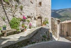 Castel di Tora, comune in the Province of Rieti in the Italian region Latium. Stock Photo