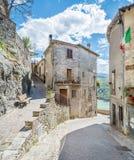 Castel di Tora, comune in the Province of Rieti in the Italian region Latium. Royalty Free Stock Images