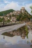 Castel di Tora, Lazio, Italië Royalty-vrije Stock Afbeelding
