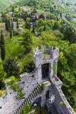 Castel di vezio varenna Italien Arkivfoto