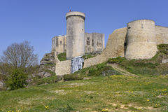 Castel of Falaise in France Stock Photography