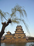 Castel famoso de matsumoto do ponto de turista do japonês Fotos de Stock
