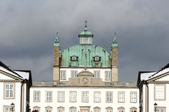 Castel of fredensborg. In denmark a sunny winter day royalty free stock image